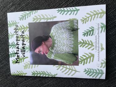 Metsänpeitto -villapaita neuleohje - printti suomenkielinen