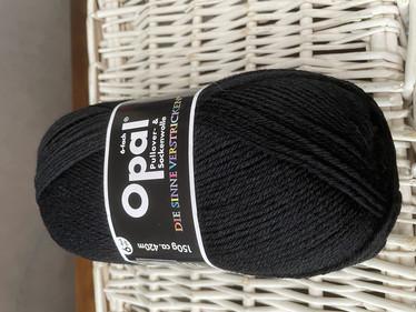 Opal, yksivärinen 6-säikeinen ,  black 5306