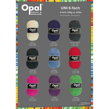 Opal, yksivärinen 6-säikeinen , red 7900