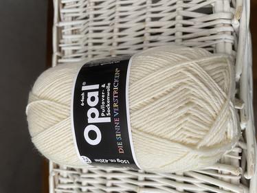 Opal, yksivärinen 6-säikeinen , white 5300