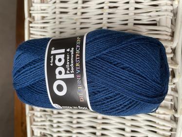 Opal yksivärinen 4-säikeinen , 5187 petroolin sininen