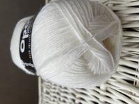 Opal yksivärinen 4-säikeinen , 2620 valkoinen
