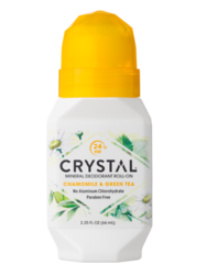 Crystal mineral deodorant roll-on Kamomilla & Vihreä tee 66 ml