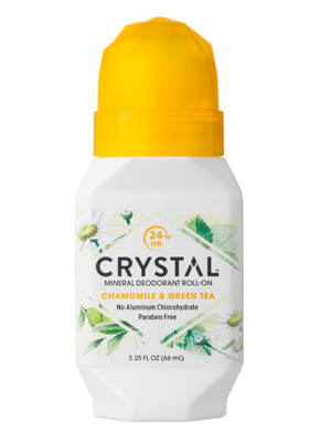 Crystal essence mineraali deo Roll-on Kamomilla & Vihreä tee