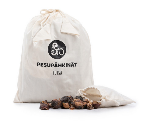 Pesupähkinät puuvillapussissa 400 g