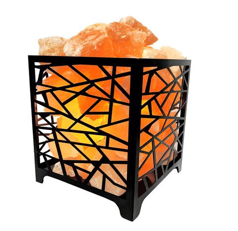 Lumo suolavalaisin oransseilla suolapaloilla
