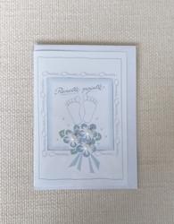 Kortti, Pienelle pojalle, vaal.sin. ruusut+varpaat