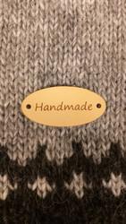 Hand made merkki, soikea