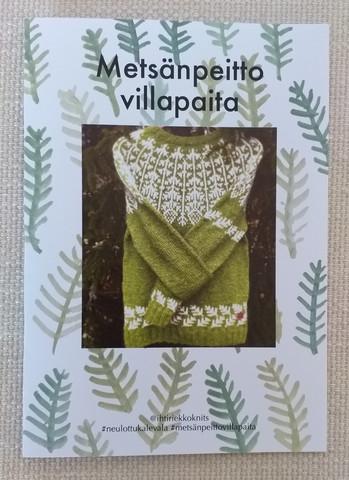 Metsänpeitto -neuleohje, printti