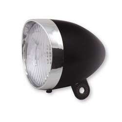 HEADLIGHT RETRO LED 65 MM BLACK