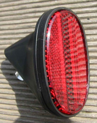 REAR REFLECTOR OVAL, BLACK BODY