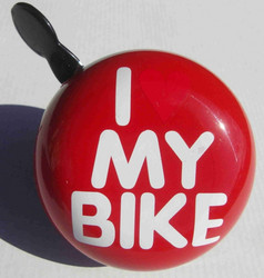 DING-DONG BELL 80 MM RED / I LOVE MY BIKE