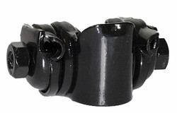 SADDLE CLAMP STEEL BLACK