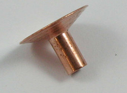 SADDLE RIVET 13 MM COPPER PLATED