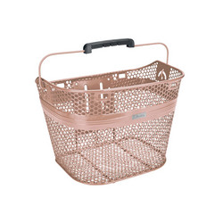 ELECTRA LINEAR STEEL MESH FRONT BASKET ROSE GOLD, QUICK LOCK