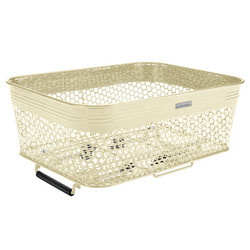 ELECTRA LINEAR REAR BASKET LOW PROFILE, METAL, CREAM, QR