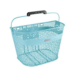 ELECTRA LINEAR STEEL MESH FRONT BASKET POWDER BLUE, QUICK LOCK