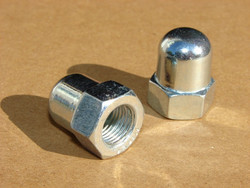 DOME NUT 7.9 MM ZINC PLATED