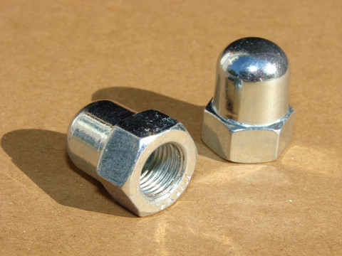 DOME NUT M9 X 1 ZINC PLATED