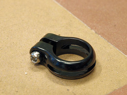 SEATPOST CLAMP 29.8MM BLACK