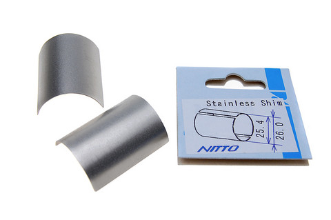 HANDLEBAR ADAPTER NITTO 25.4 > 26 MM STAINLESS STEEL