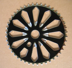CHAINRING BLACK CRYSTAL 1/2X1/8