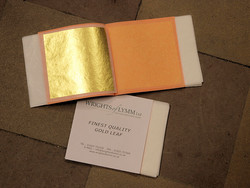 GOLD LEAF 23 CT ON TRANSFER PAPER 25 PCS