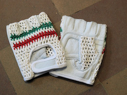 CROCHET GLOVES ITALIAN STRIPES SMALL