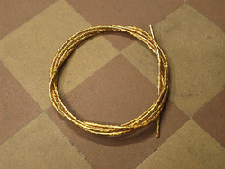 OUTER CABLE HOUSING GOLD GLITTER 2.5M X 5MM