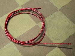 OUTER CABLE HOUSING RED GLITTER 2.5M X 5MM