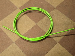 OUTER CABLE HOUSING LIGHT GREEN 2.5M X 5MM