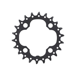 CHAINRING 22T 64BCD 4 BOLTS BLACK 9 SPEED SHIMANO FC-M660