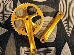 CRANKSET 46T 170MM GOLD FOR SQUARE AXLE