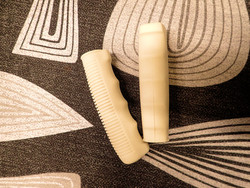 RUBBER GRIPS 125 MM CREAM