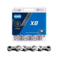 KMC X8 SILVER/GREY 1/2X3/32