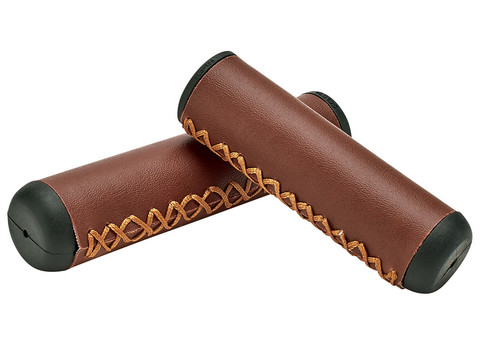 ELECTRA GRIPS, MEDIUM BROWN HAND-STITCHED LONG/SHORT