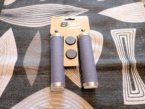 DONUT LOCKING GRIPS, BLUE JEANS 130/130 MM