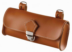 SADDLE BAG, COGNAC BROWN LEATHER