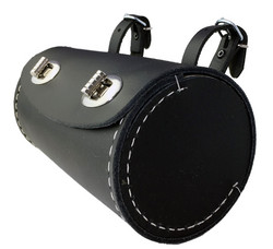 SADDLE BAG, BLACK, BARREL SHAPE