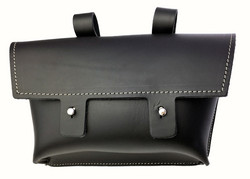 HANDLEBAR BAG LEATHER, BLACK