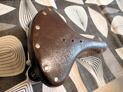 LEATHER SADDLE INDIAN BROWN CHROMED SPRINGS