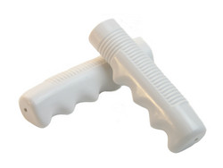 RUBBER GRIPS 117 MM WHITE