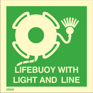 Lifebuoy with light and line