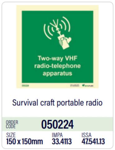 Survival craft portable radio