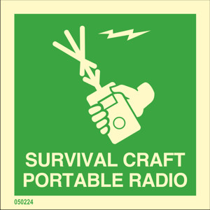 Survival craft portable radio
