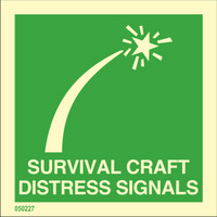 Survival craft pyrotechnic distress signals