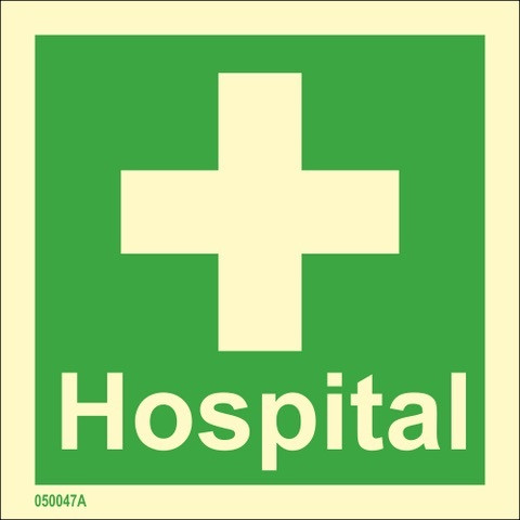 Hospital with text