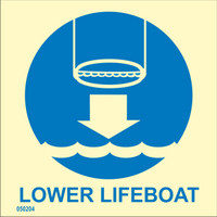 Lower lifeboat to water