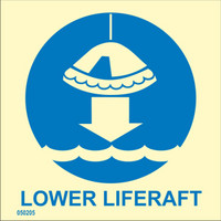 Lower liferaft to water