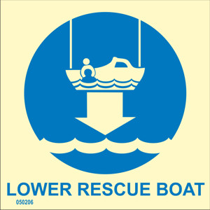 Lower rescue boat to water